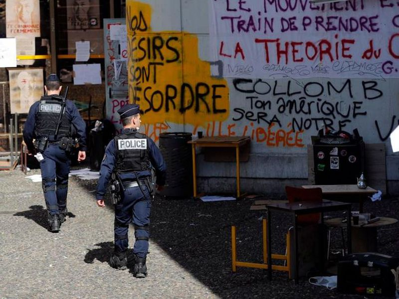 """Students have blocked access or disrupted classes at several other campuses in France"" (AP)"