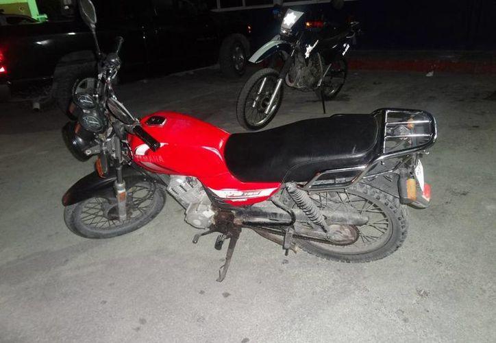 La unidad motorizada quedó a disposición del Ministerio Público. (Redacción/SIPSE)