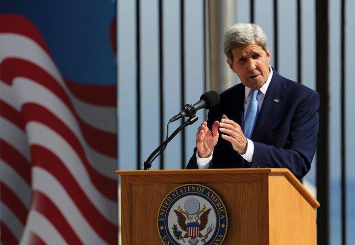 John Kerry, secretario de Estado de EU, destacó la importancia del acuerdo que lograron las FARC y el gobierno de Colombia por la paz definitiva en ese país. (EFE/Archivo)