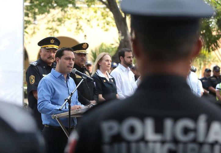 El alcalde Mauricio Vila Dosal encabezó la ceremonia del operativo vacacional 'Semana Santa'. (Milenio Novedades)