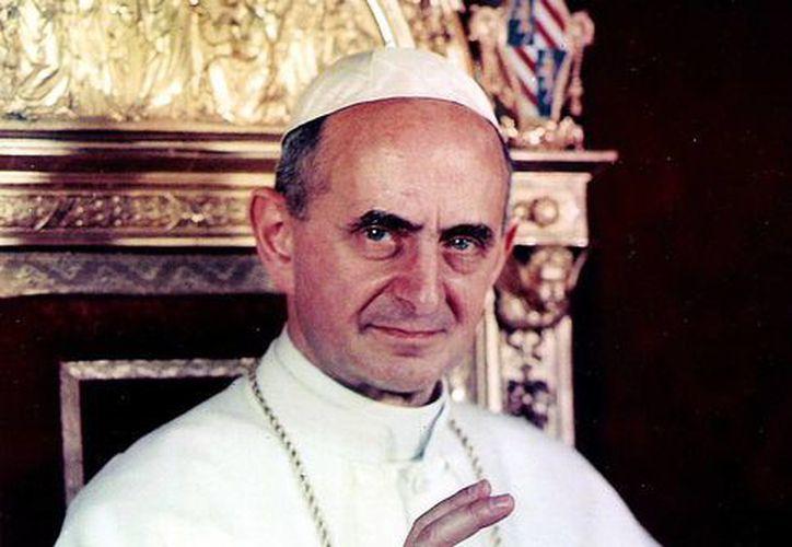 """Benedicto XVI reconoció las """"virtudes heróicas"""" de Paulo VI (foto) en diciembre de 2012 (wikipedia)"""