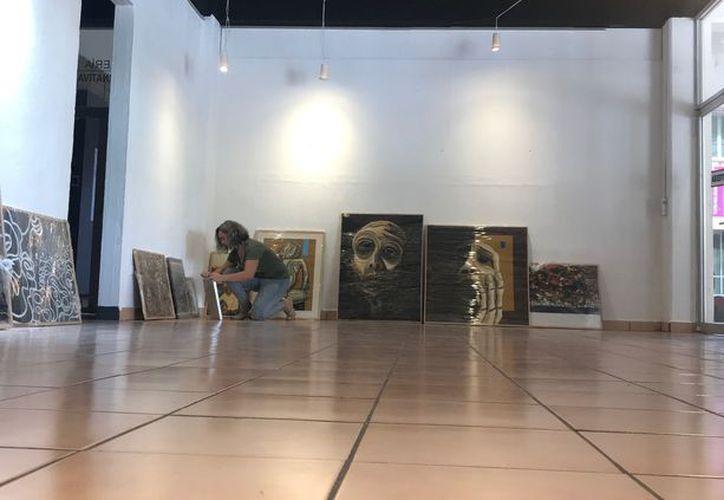 Las obras estarán expuestas en la Casa de la Cultura hasta el próximo 13 de octubre. (Faride Cetina/SIPSE)