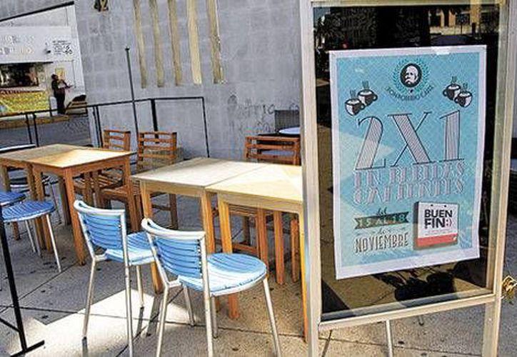 La promoción de café caliente al 2x1 en Don Porfirio (foto) de poco sirvió este fin de semana. (Milenio)