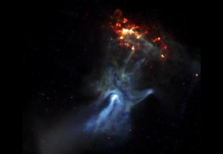 La 'Mano de Dios' es una nebulosa que se encuentra a 17 mil años luz de distancia de la Tierra. (NASA/JPL-Caltech/McGill)