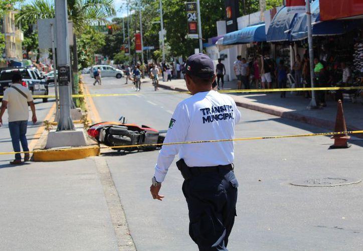 Uno de los delincuentes fue herido por arma de fuego. (Foto: Redacción/SIPSE).