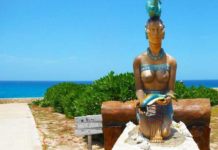 El Santuario de diosa Ixchel, por su ubicación geográfica, es el sitio donde pegan los primeros rayos de sol del 2016. (Contexto/Internet)
