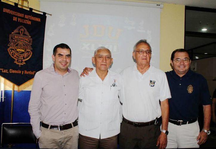Autoridades universitarias y deportivas dieron los pormenores de la XLVII edición de los Juegos Deportivos Universitarios. (Milenio Novedades)