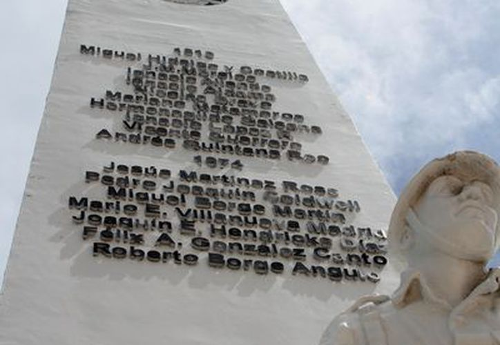 El monumento al pendón nacional se incorporó a la Explanada de la Bandera  en 1943. (Joel Zamora/SIPSE)