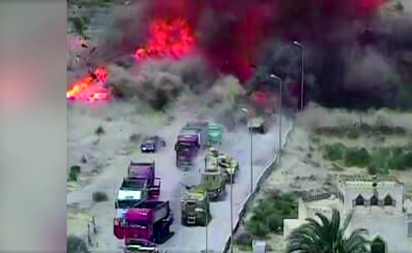 Como resultado de la explosión, fallecieron tres hombres, dos mujeres y dos niños. (Captura video)