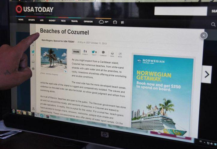 Reportero de un periódico estadounidense publicó un reportaje sobre la Isla de las Golondrinas. (Julián Miranda/SIPSE)