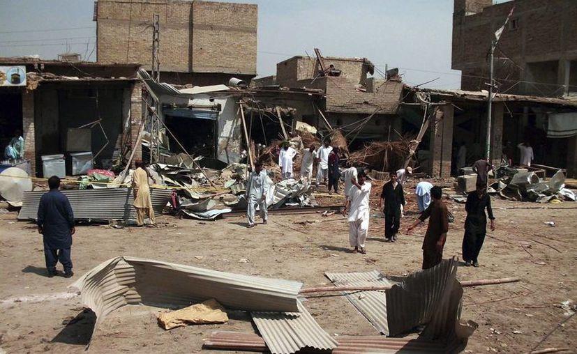 Zona dañadad tras tras un atentado en Pakistán. (EFE/Archivo)