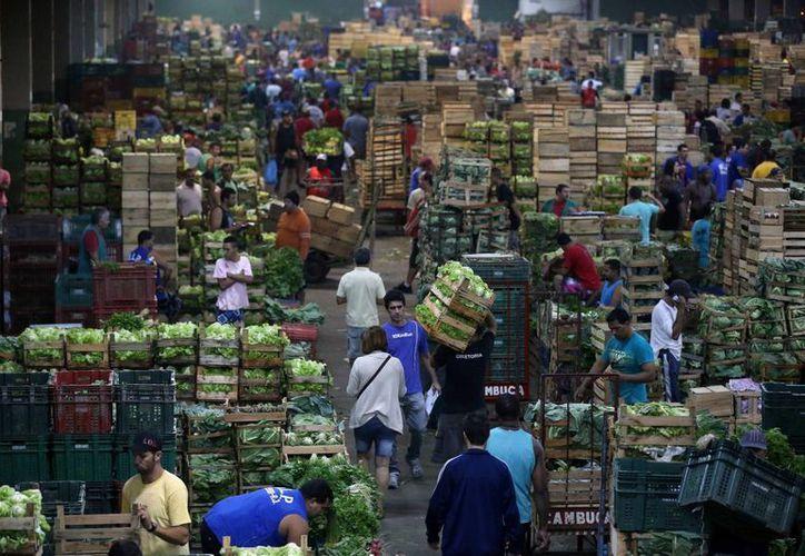 Vista general de un área del mercado de abastos Ceasa, el segundo mayor de América Latina, en Río de Janeiro, Brasil, cuya economía técnicamente entró en recesión. (EFE/Archivo)