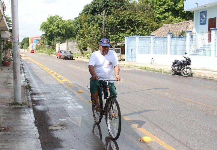 La ciclovía fue instalada con la intención de ofrecer un espacio de recorridos por lugares representativos de Felipe Carrillo Puerto. (Benjamin Pat/SIPSE)