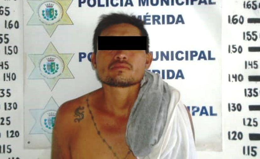 """Felipe de Jesús """"N"""" fue trasladado a la cárcel municipal. (Novedades Yucatán)"""