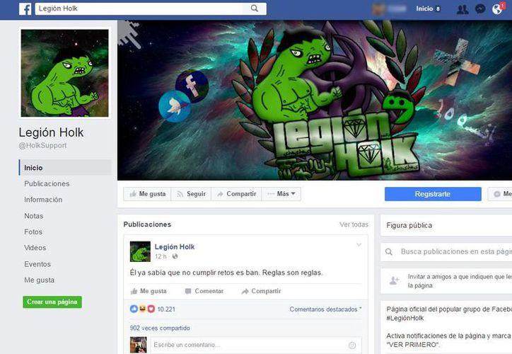 En redes sociales circulan perfiles que incitan a la violencia, por lo que las autoridades las están investigando. (facebook.com/HolkSupport)