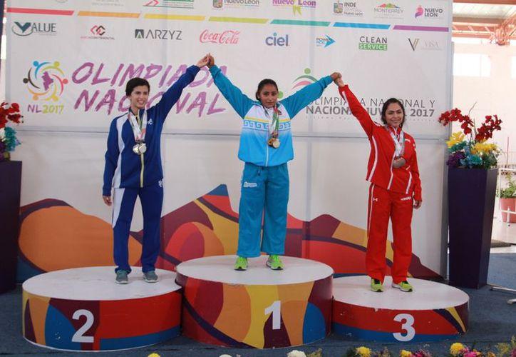 La quintanarroense Margely Castillo participó en la categoría Sub-20. (Raúl Caballero/SIPSE)