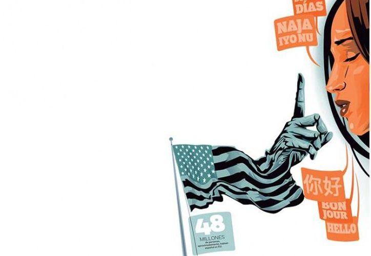 El peligro de hablar español o dialectos en Estados Unidos para los migrantes. (Foto: Excélsior)