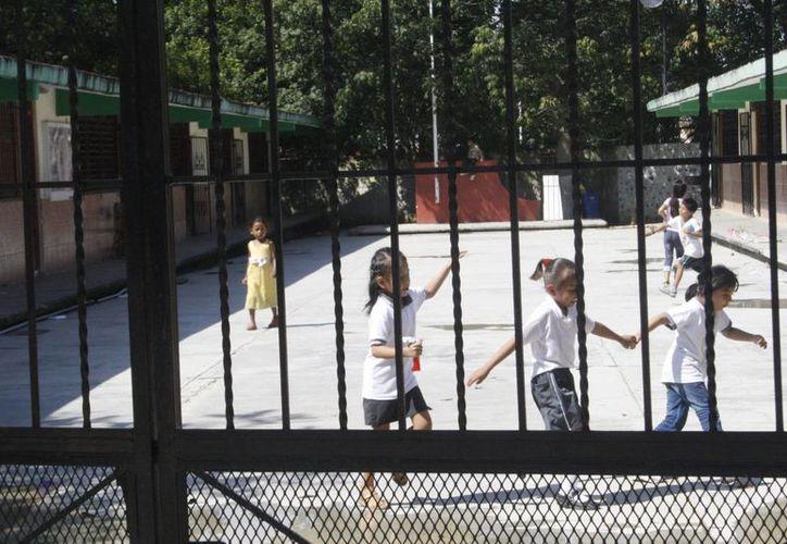 Informan que no todos los niños acudieron en las escuelas. (Loana Segovia/SIPSE)