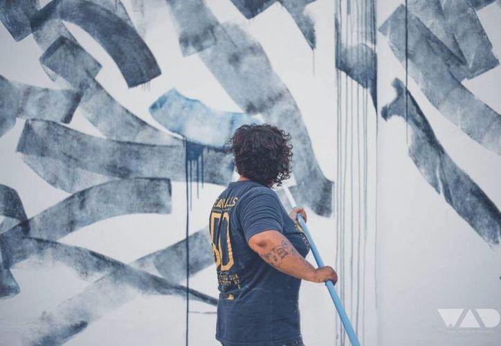 La artista viajó a Brasil para participar en el Festival Concreto, de arte urbano. (Cortesía)