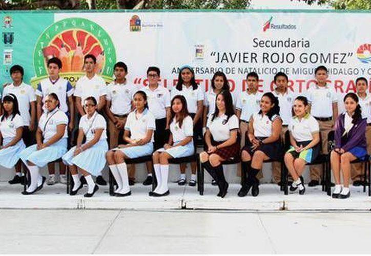 Escuelas participantes en el concurso. (Cortesía/SIPSE)