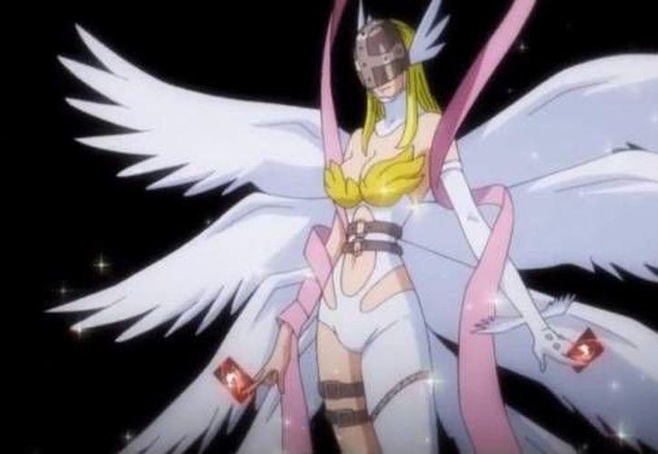 La figura es un es un ensamble de Kari (Hikari) y Angewomon, la digievolución ultra de Gatomon. (Imágenes tomadas de SDP)