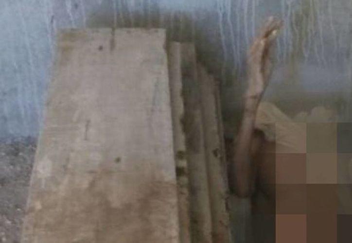 El cadáver de Juan Diego fue encontrado ayer por sus familiares en la colonia Plan de Ayala Sur. (SIPSE)