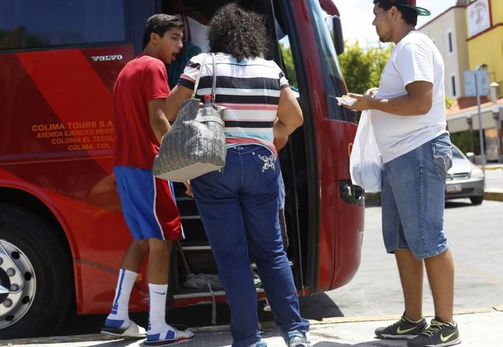 En varios puntos de la ciudad se nota el incremento de la actividad turística. (Israel Leal/SIPSE)