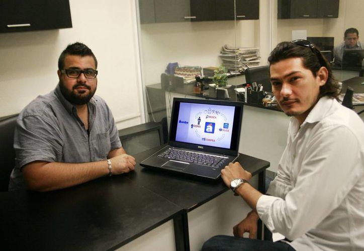 Daniel Parra y Rodrigo Alberto Bates, creadores de Áamba. (Milenio Novedades)