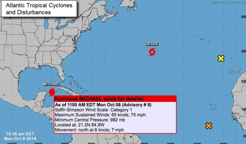 Huracán 'Michael' toca tierra en Florida