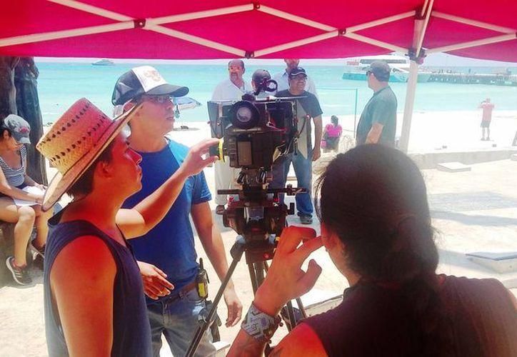 Este fin de semana continuará la filmación de 'La Cruel Invención del Tiempo' en Playa del Carmen. (Daniel Pacheco/SIPSE)