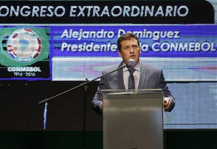 Alejandro Domínguez  desde 2007 se desempeñó como vicepresidente de la federación paraguaya, y a partir de agosto de 2014 saltó a la presidencia de esa institución. Este jueves fue elegido como el nuevo presidente de la Conmebol. (AP)