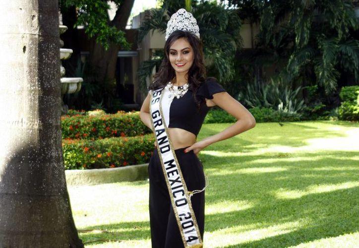 Marsha Ramírez Martínez, Nuestra Belleza Yucatán 2012, es también conductora del programa Calle 60 en Mérida. (Milenio Novedades)