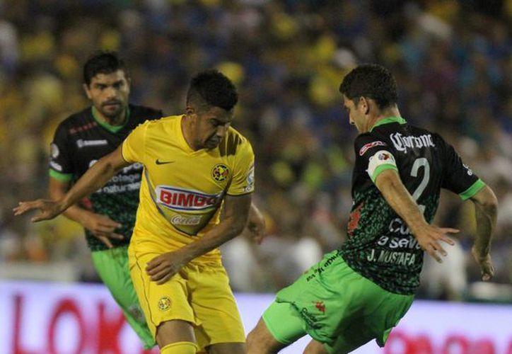 América y Chiapas empataron 2-2 en el estadio Víctor Manuel Reyna. (Notimex)