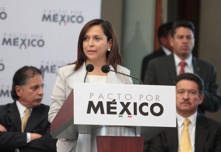 La presidenta del CEN del PRI, Cristina Díaz Salazar, abrió el proceso para la elección y el registro de aspirantes. (Archivo/Notimex)