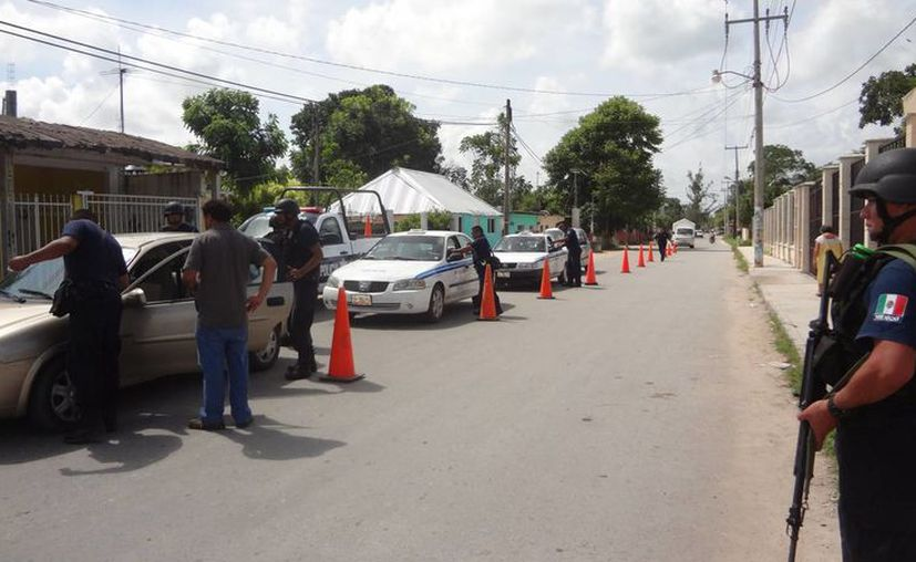 Se establecerán retenes sorpresa en distintos puntos de la cabecera municipal. (Javier Ortiz/SIPSE)