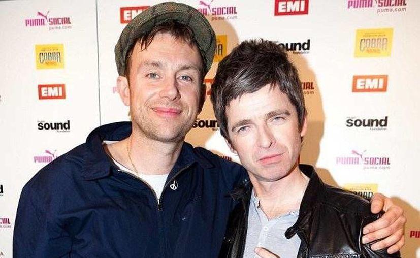 Gallagher (d) y Albarn estuvieron peleados durante los 90's. (foros.fotech.cl/Archivo)