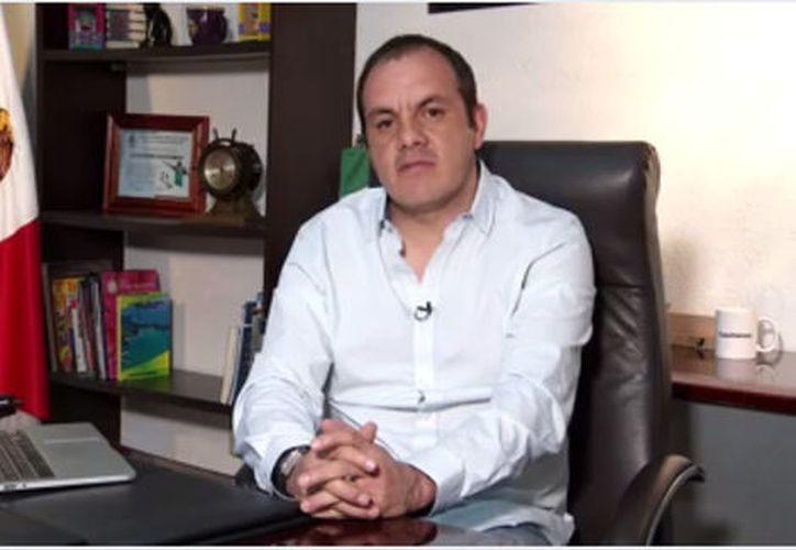 """Blanco acusó al gobernador de Morelos, Graco Ramírez, de estar detrás de esos señalamientos """"aberrantes"""" con el fin de destituirlo. (Milenio)"""