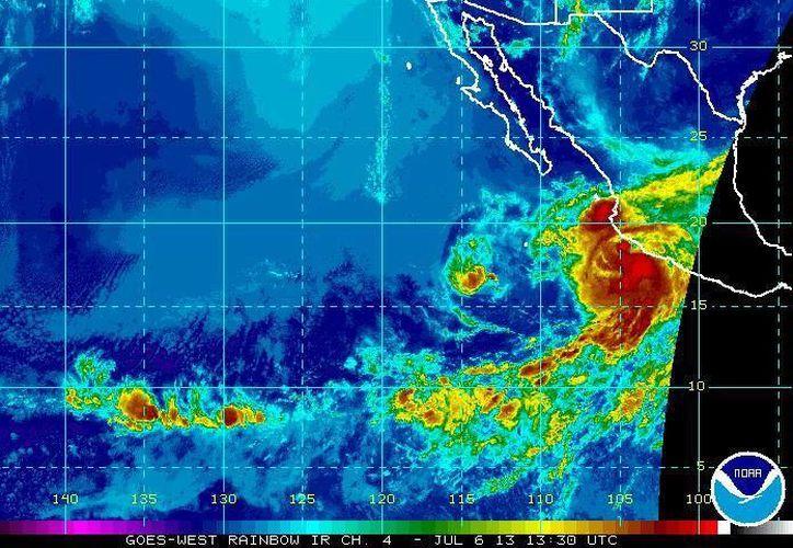 Se espera que Erick afecte sobre todo a Oaxaca, Guerrero, Michoacán, Nayarit, Colima y Jalisco. (ssd.noaa.gov)