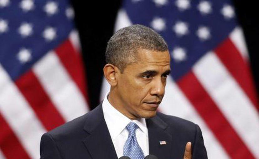 Obama presentó una excepcional muestra de bipartidismo entre la Casa Blanca y legisladores del Senado. (Agencias)