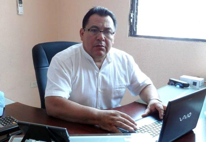Esteban Rafful Quiñonez, dirigente municipal del PES. (Milenio Novedades)