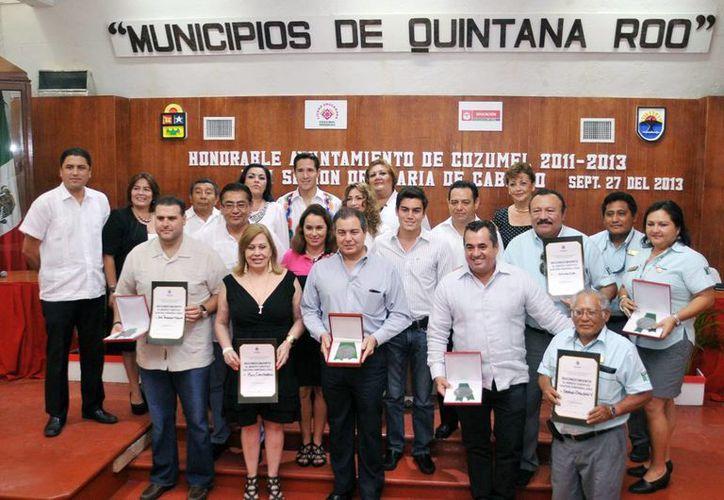 El evento se realizó durante la sexagésima segunda sesión ordinaria de Cabildo. (Cortesía/SIPSE)