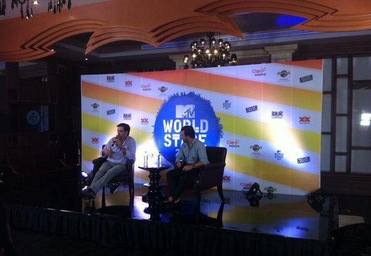 Se llevo a cabo la conferencia de prensa en el Hotel Hard Rock Riviera Maya. (Francisco Gálvez/SIPSE)
