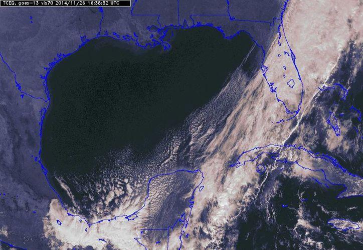 El frente frío 14 ya está en aguas del Mar Caribe. (Conagua)