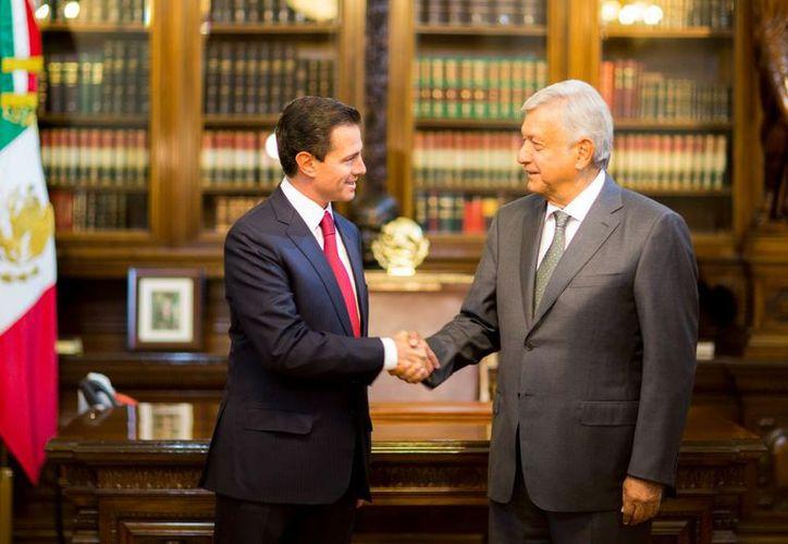 Reunión de Peña Nieto y López Obrador. (Presidencia de México)