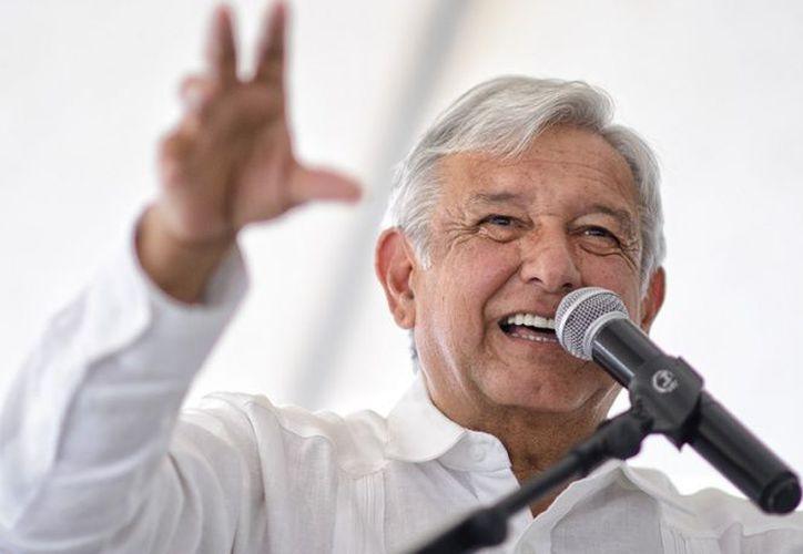López Obrador, dijo estar contento en Tlalpan. (Excelsior)