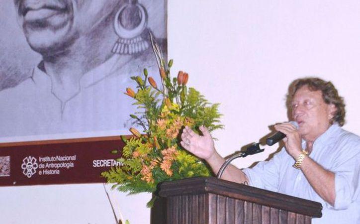 Conferencia sobre los mayas por Luis Leira Guillermo. (Cortesía/SIPSE)