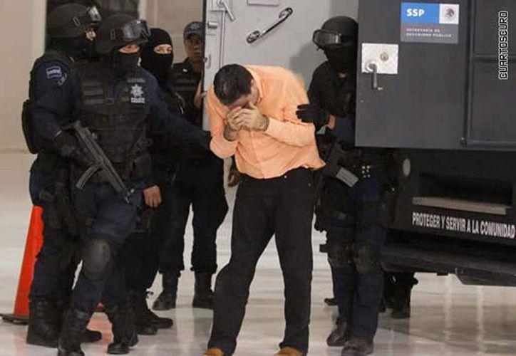 Imagen de la presentación de Manuel Fernández Valencia cuando fue detenido en México en el 2010. (Archivo/Agencias)