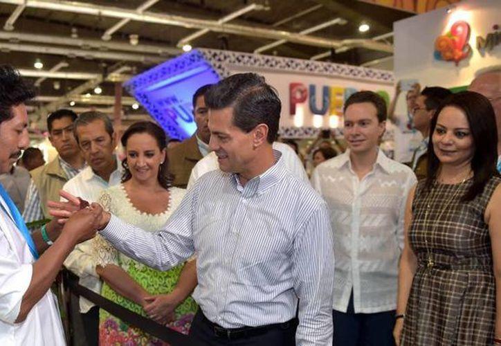 Peña Nieto aseguró que su gobierno trabaja para que el país sea una potencia turística mundial. (Presidencia)