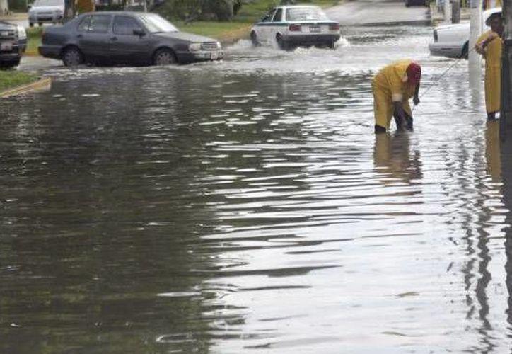Hasta hace unas horas se hacían trabajos para detener la fuga de agua. En esa labor intervenían la Japay y el Ayuntamiento de Mérida. (SIPSE)