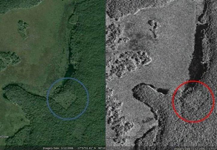 El arqueólogo afirma que la imagen satelital en la que el joven canadiense fundamenta su presunto hallazgo corresponde con la laguna El Civalón. (Especial/Google)